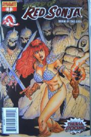 Red Sonja Doom of the Gods #1 Fiery Red Foil Ltd 200 COA Dynamite Ent comic book